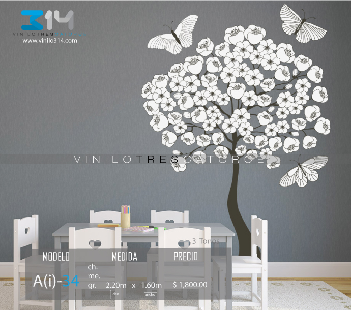 Pin 314com on pinterest for Vinilos mariposas